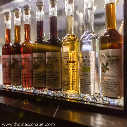 bar closeup liquor bottles