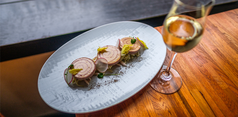 batard slideshow line foie gras sparkling wine