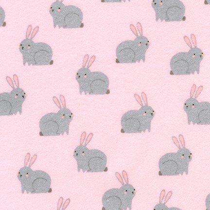 Robert Kaufman Woodland hideaway Bunnies pink