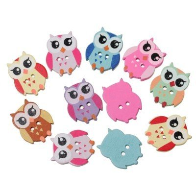 Owl Wooden Buttons