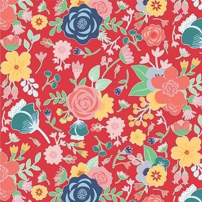 Riley Blake - Midnight Blooms - Red