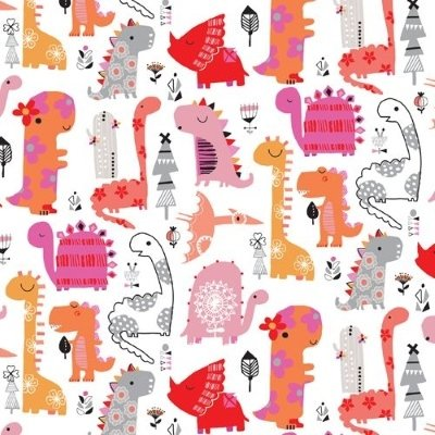 Dashwood - Playtime - Dinosaur Pink / Grey