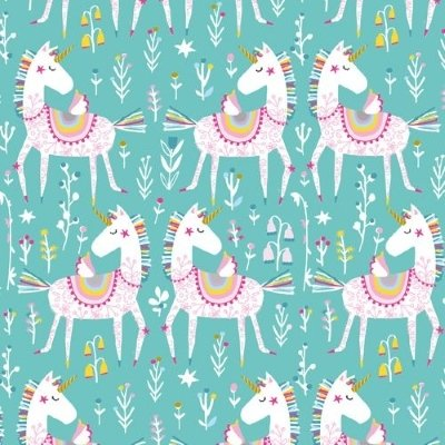 Dashwood - Playtime - Unicorns on blue