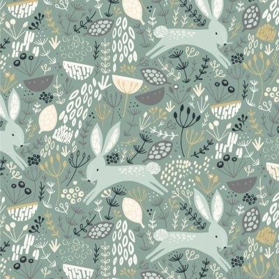 Dashwood - Dovestone - Rabbits Sage fabric
