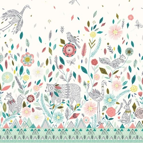 Dashwood - Boho Meadow - Boho Meadow Border Print in Multi