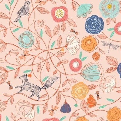 Dashwood - Boho Meadow - Fox in Coral