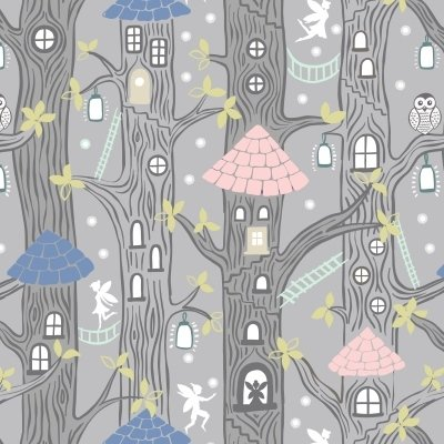 Lewis and Irene fairy lights fabric