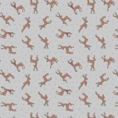 Lewis and Irene grey deer fabric