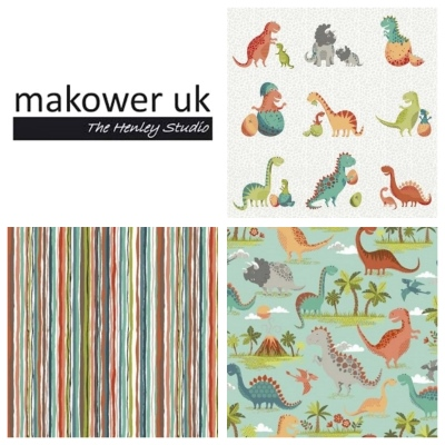 Makower dinosaur fabric