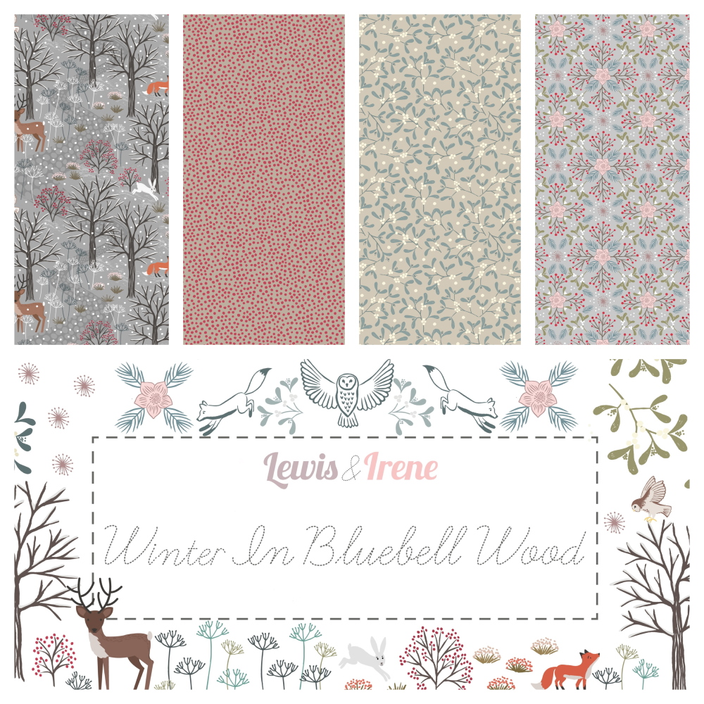 Winter in bluebell wood fabrics