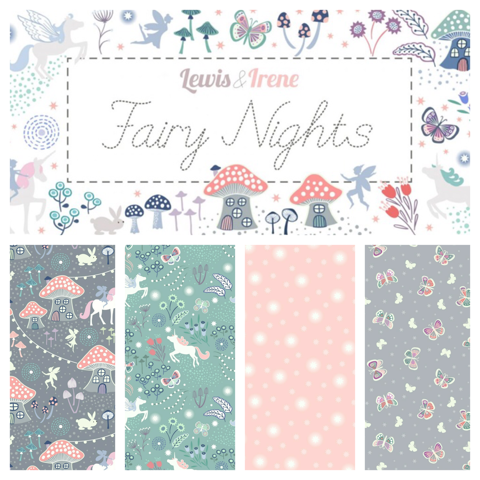 Glow in the dark fairy fabrics