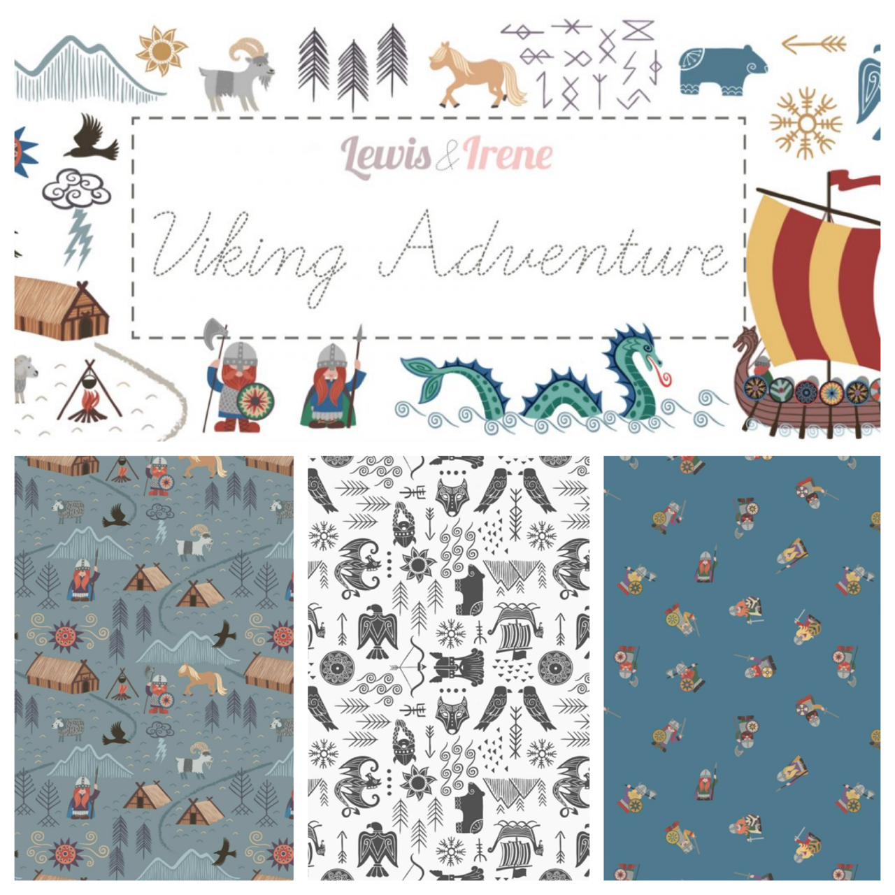 Lewis and Irene Viking fabric