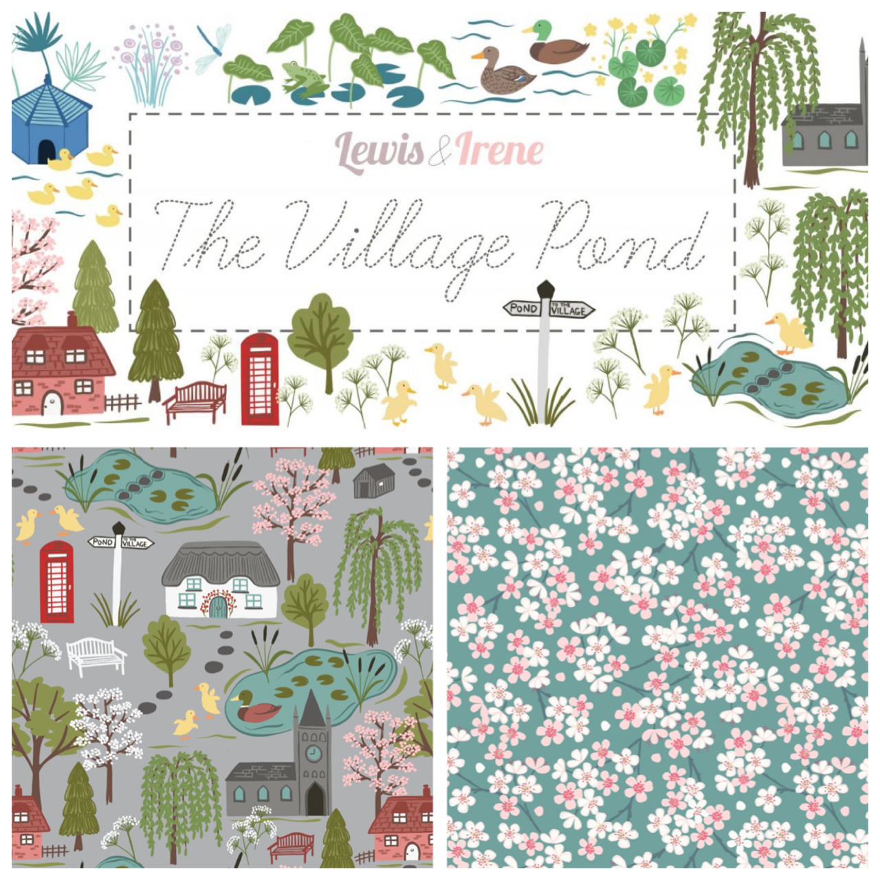 The Village pond fabric collection