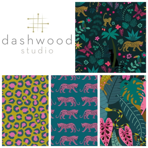 Night jungle fabric dashwood studio Elena Essex