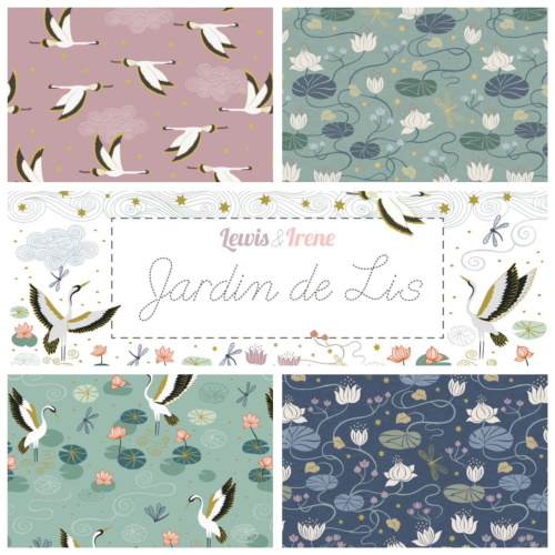 Jardin de lis by lewis and irene fabrics