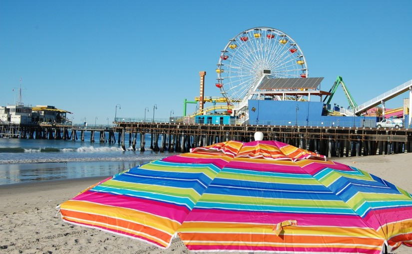 beach view of the santa monica pier