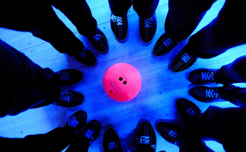 bowlers around a cosmic bowling ball