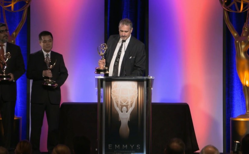 accepting an emmy award