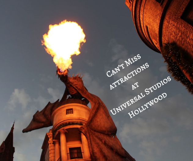 Attractions at Universal Studios Hollywood
