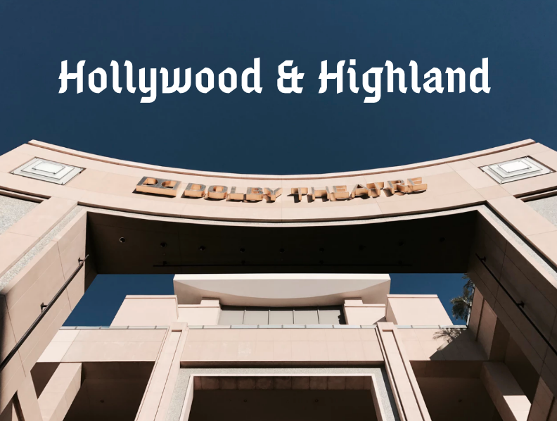 things to do around hollywood and highland
