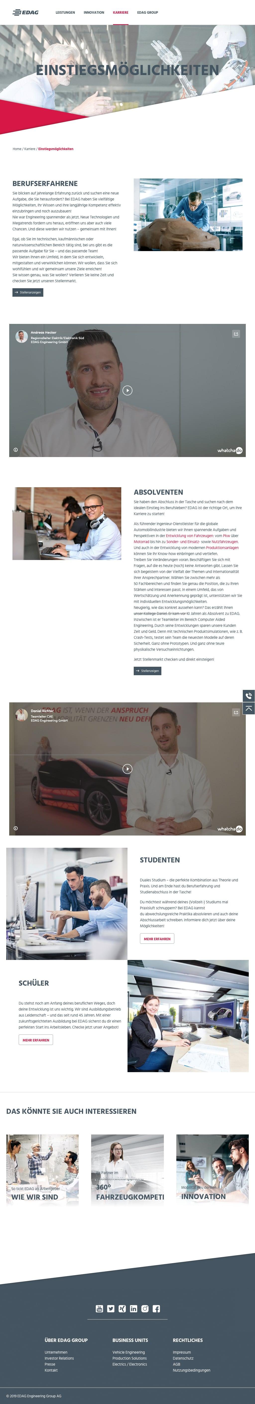 EDAG Group AG Corporate Website