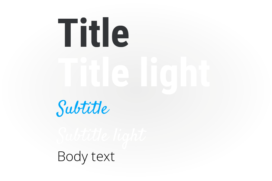 Seidat - Font styles