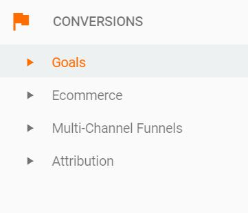 goal tracking in google analytics