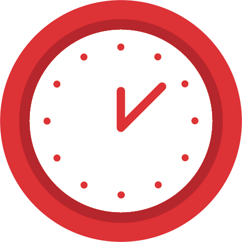 illustrated red clock