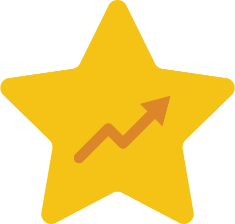 star icon with upward trendline