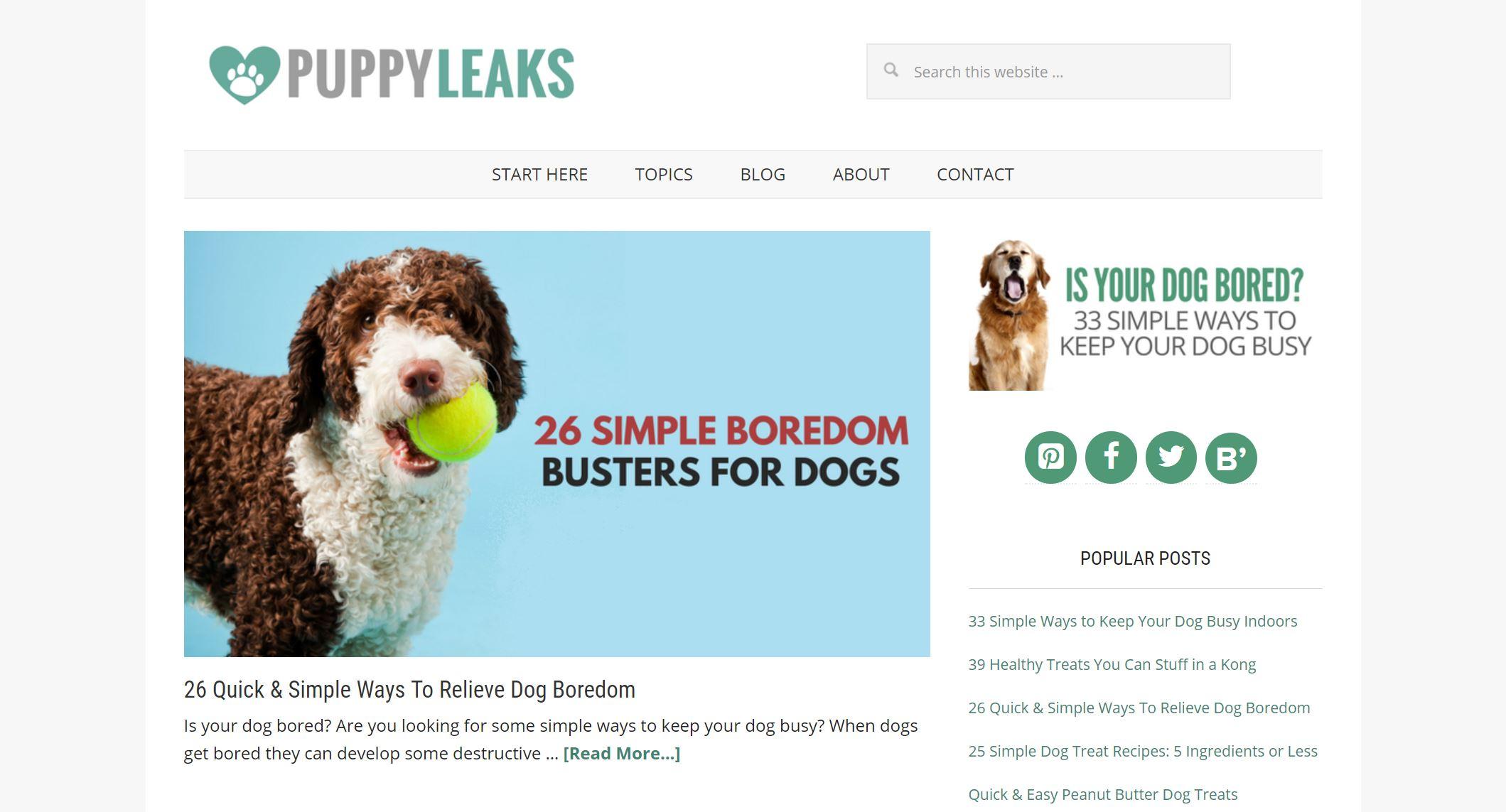 puppy leaks homepage