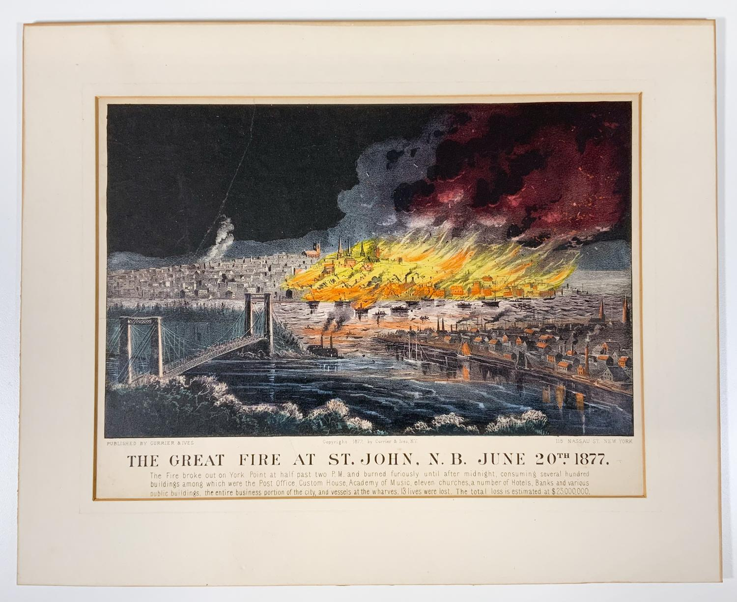 The Great Fire at St John, NB June 20, 1877