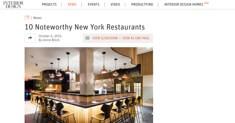 Interior Design - 10 Noteworthy Restaurants