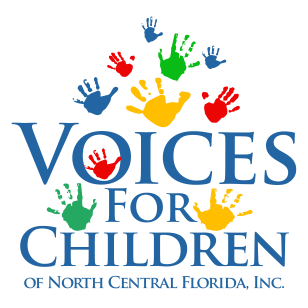 Voices for Children of North Central Florida logo with link to homepage