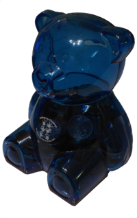 Blue Adopt-a-Bear coin bank