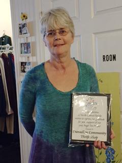 Karen Keen President of the Dunnellon Community Thrift Shop,