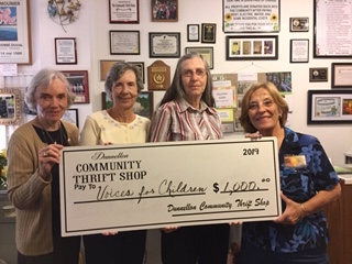 Valerie Schaem, Arlene Untch, Janis Edwards of Dunnellon Community Thrift Shop