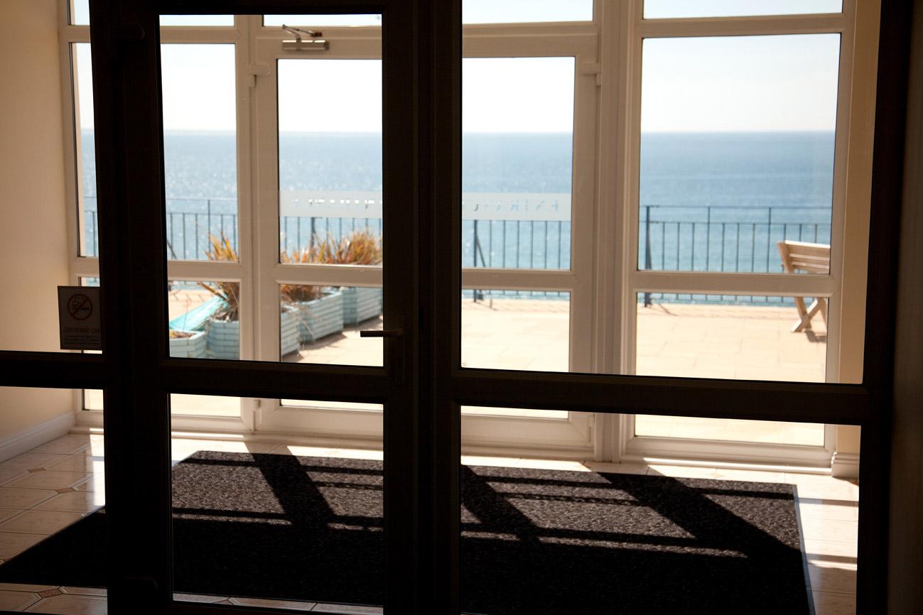 View onto communal balcony