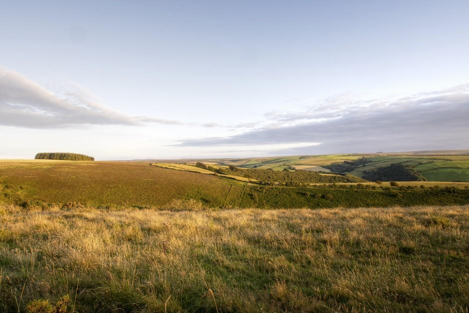Exmoor park rolling hills