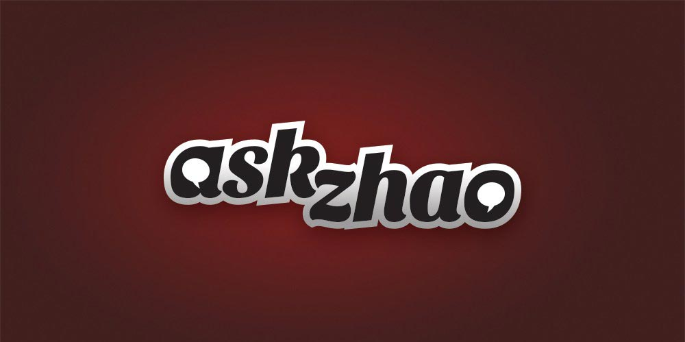 Ask Zhao wordmark logo design