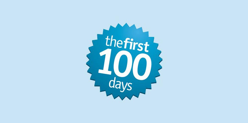 The First 100 Days logo