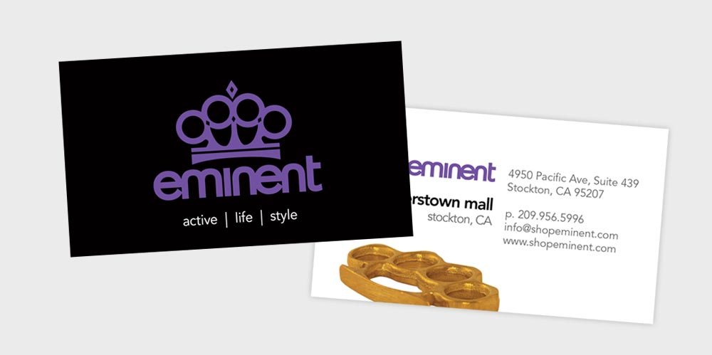 Eminent business card design