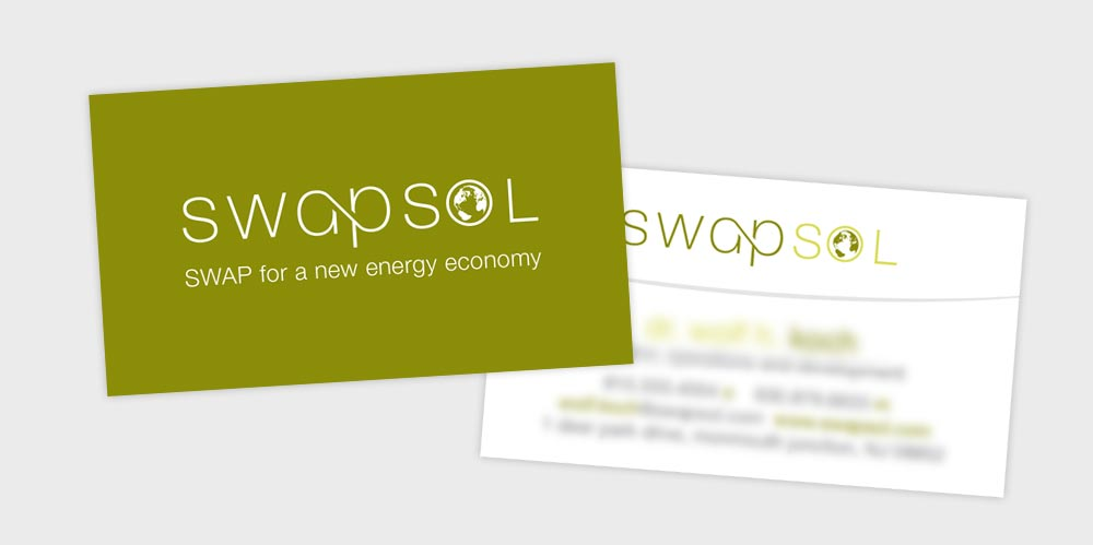 Swapsol business card design