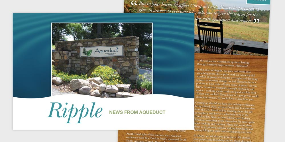 "Aqueduct ""Ripple"" newsletter"