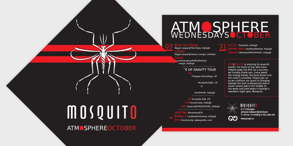 Mosquito Club flyer design