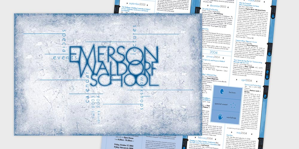 Emerson Waldorf School mailer design