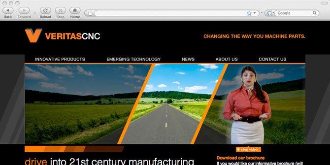 VeritasCNC website | Freelance website designer, webflow expert