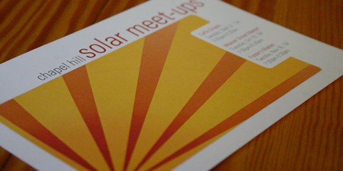 Solar meetups flyer