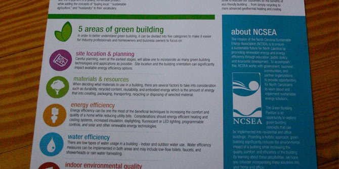 Green Building handout design