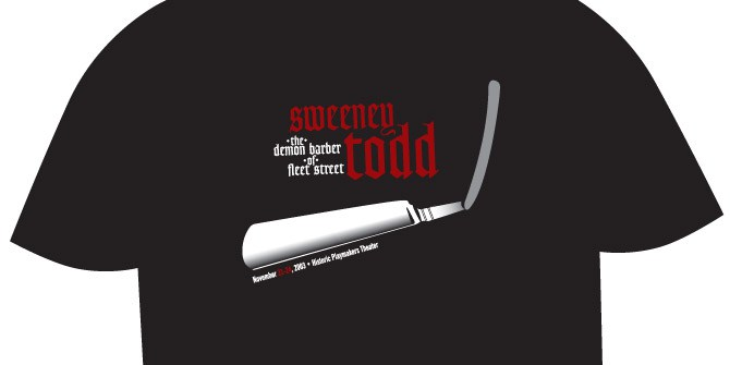 Sweeney Todd shirt design
