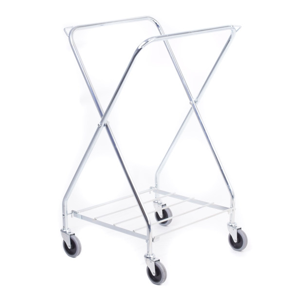 This is a traditional X model for 200 liter bags. Following improvement this trolley is now stronger and bigger.